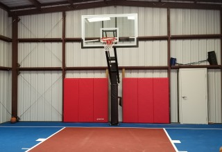 Bell RV Garage Basketball Court