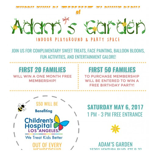 Adam's Garden Launches First Location at Sherman Oaks Galleria With Green Carpet Grand Opening Event Benefiting Children's Hospital Los Angeles