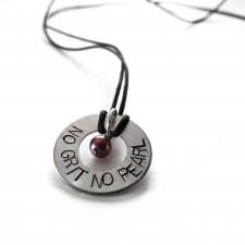 No Grit No Pearl Necklace