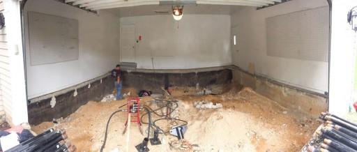 Sinkhole-Damaged Garage Gets New Foundation