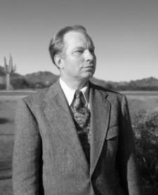 Mr. Hubbard's classic portrait, taken when he lived in Phoenix
