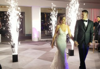 Spectacular Multitude of Sparks Energize Wedding Event