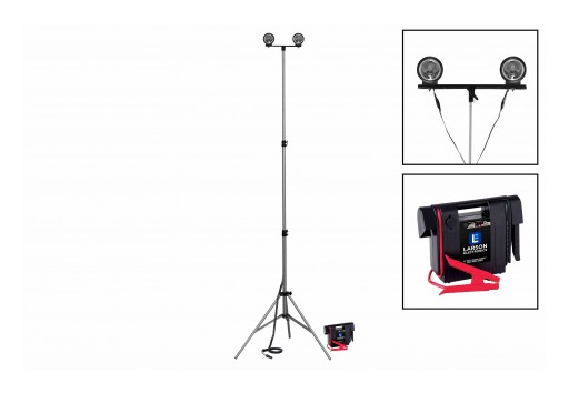 Larson Electronics Releases 50W LED Work Light With Tripod Mount, 3.5' to 10', 5,500 Lumens