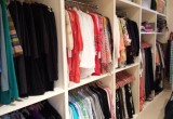 Closets can be organized by colors, garment type or lifestyle.
