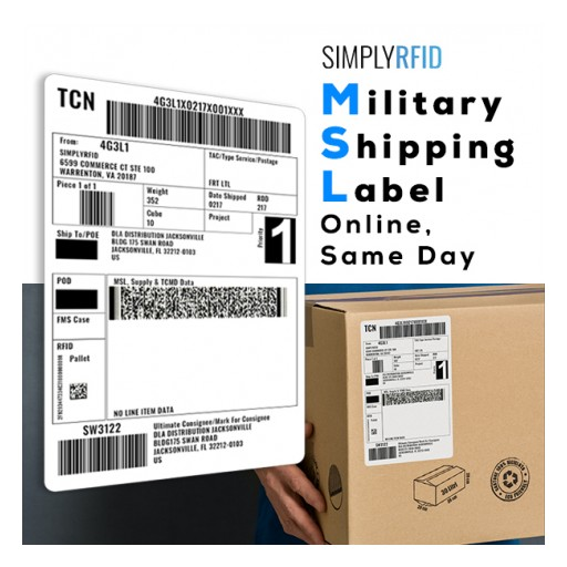 SimplyRFID Releases Its New Online Military Shipping Label (MSL), Unit Pack Ordering Tool