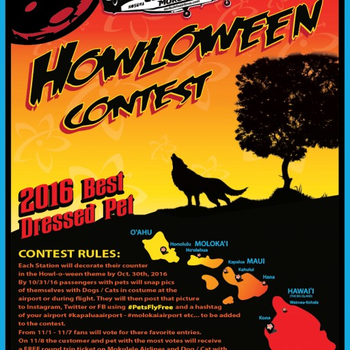 Mokulele Airlines Announces Howl-O-Ween Photo Contest for Best Dressed Pet