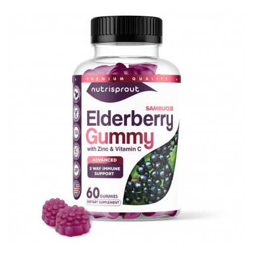 NutriSprout Introduces Powerful Natural Immune Booster Sambucus Black Elderberry Gummy