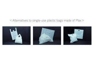 Alternatives to single-use plastic bags made of Plax