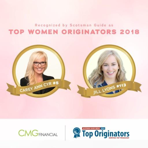2 CMG Financial Loan Officers Ranked Among Nation's Top Women Originators