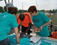 Volunteers provided the athletes with booklets and DVDs they can use to promote drug-free living to the youth of their communities.