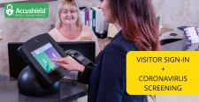 Visitor sign-in and screening kiosk for Senior Living and Skilled Nursing Facilities