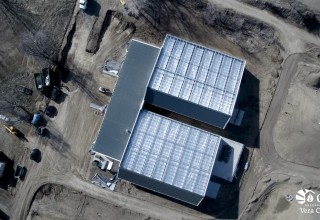 Aerial Footage of a Custom-Sealed Cannabis Greenhouse with Head House Attachment