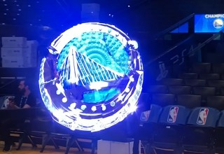 Hypervn Wall by TLC Creative for the Golden State Warriors Ring Ceremony