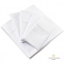 Cosy House White Wavy Bed Sheets Folded View