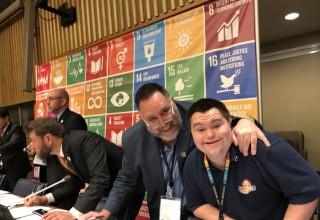 Mark and John Cronin Sign EO Declaration on SDGs