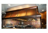 Custom copper hood - commercial kitchen