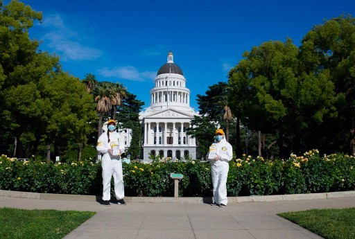 Scientology Volunteer Ministers in the California State Capital Promote Prevention to Help Flatten the Coronavirus Curve