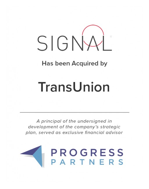 Progress Partners Advises Signal on Its Sale to TransUnion