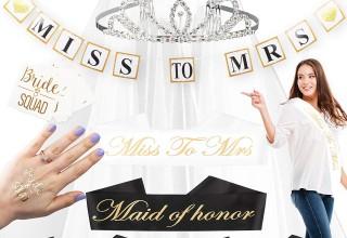 34-piece Bride Squad Bridal Shower Decorations