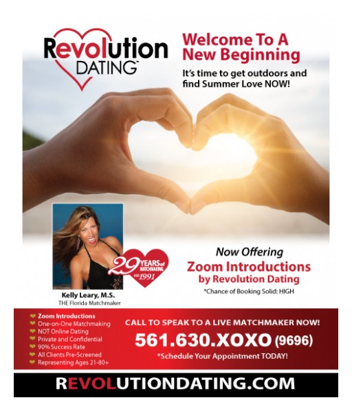 Kelly Leary Announces Revolution Dating Now Offering Complimentary Relationship Analysis and First Interview