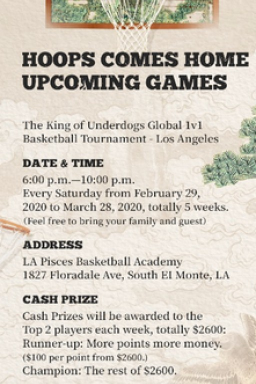 The King of Underdogs Hosts 'Hoops Comes Home' Basketball Tournament in L.A.