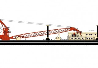 Floating Crane Barge