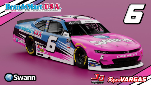 Swann and BRANDSMART USA Team Up to Sponsor NASCAR Xfinity Series Driver Ryan Vargas for Oct. 16 at the Andy's Frozen Custard 335 at Texas Motor Speedway