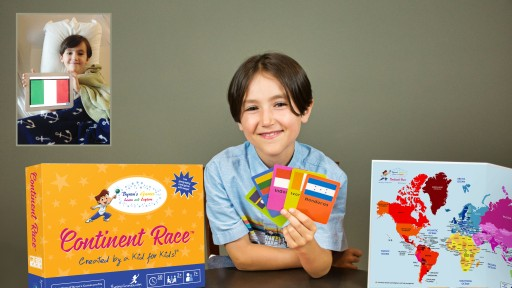 Continent Race, the Fun Family Board Game, Originally Created by Six-Year-Old in Hospital, is Available Now on Amazon