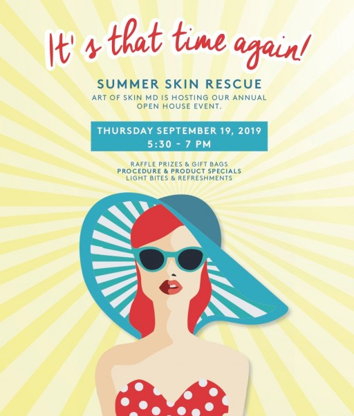 Stay Skin Savvy, San Diego: Melanie Palm M.D. Hosts 7th Annual Summer Skin Rescue Event at Art of Skin MD