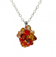 FIRE OPAL CRYSTAL NECKLACE