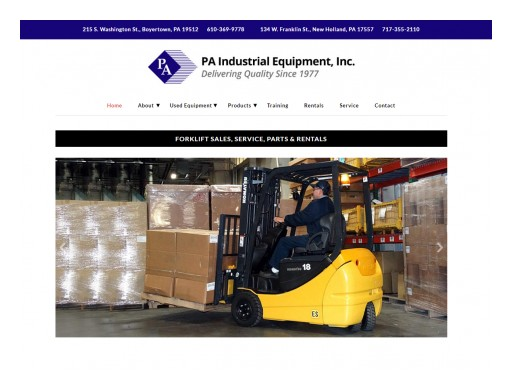 DaBrian Marketing Group, LLC Re-Develops PA Industrial Equipment, Inc.'s Website