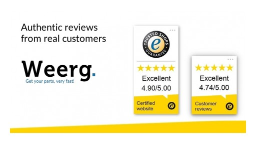 The Excellence of Weerg.com is Certified by Trusted Shops