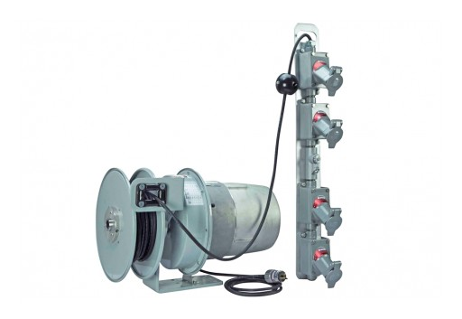 Larson Electronics Releases Explosion Proof Cord Reel W/ 50' Cord & 4 Gang Explosion Proof Outlet