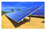 Nearly 500 ground-mount solar panels