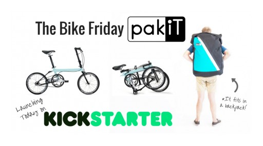 Kickstarter Folding City BIke Blasts Through $50,000 Goal in Seven Hours - the pakiT BIke Fits in Backpack