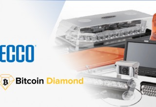 ECCO Warning Lights Logo with Bitcoin Diamond (BCD)