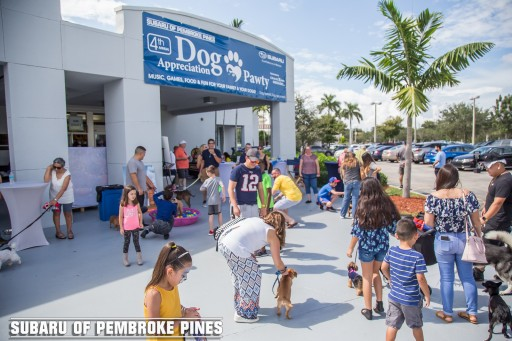 Subaru of Pembroke Pines Celebrates Subaru Loves Pets by Hosting 4th Annual 'Dog Appreciation Pawty' in Support of Pooches in Pines