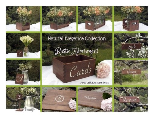 Rustic Adornment Releases Summer Line of Wedding Decor — the Natural Elegance Collection