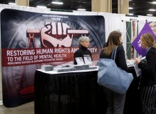 CCHR Nashville booth at student nursing convention