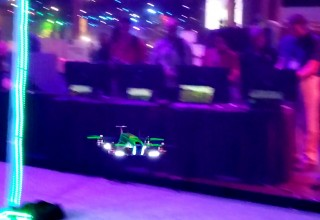 Drone in Flight at a Drone Racing Competition by TLC Creative