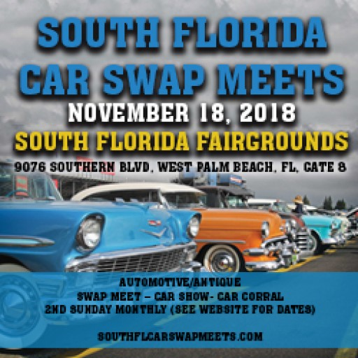 The South Florida Car Swap Meet, Car Corral, Car Show, and Car Club Challenge Returns to the Fairgrounds This Sunday