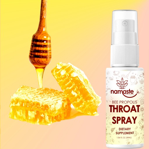 Namaste Supplements Bee Propolis Throat Spray Helps Customers Stay Healthy and Feel Better During Cold and Flu Season