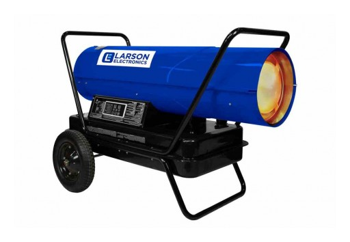 Larson Electronics Releases 120V Forced Air Heater, Cart Mounted, Kerosene/Diesel, 1250 CFM, 400000 BTUs