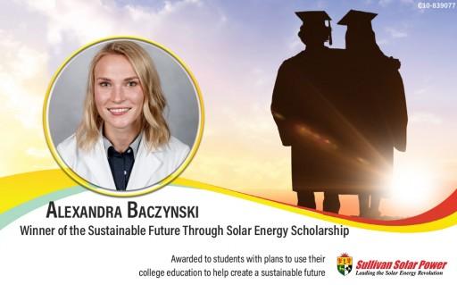 Sullivan Solar Power Selects 2019 Sustainable Future Scholarship Recipient