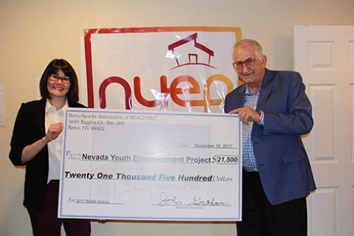 Nevada Youth Empowerment Project Receives Donation From Reno/Sparks Association of Realtors