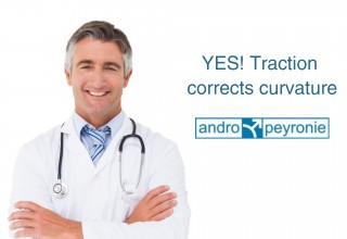 traction corrects penile curvature