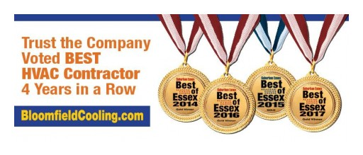Bloomfield Cooling, Heating & Electric Inc. Wins 'Best HVAC Contractor' for Fourth Year in a Row in 2017 Best of Essex Readers' Choice Awards