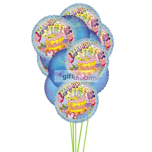 Gift Blooms Offers Same Day Birthday Balloons Arrangement Delivery