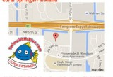 Map to the Coral Springs location for swim lessons.