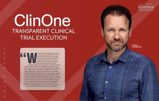 ClinOne, Inc. Named Top 10 eClinical Company by Pharma Tech Outlook Magazine